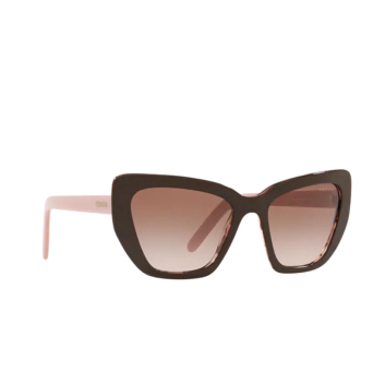 Prada® Cat-eye Sunglasses: PR 08VS color Brown / Spotted Pink ROL0A6.