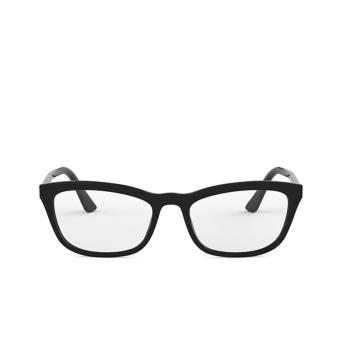 Prada® Rectangle Eyeglasses: PR 10VV color Black 1AB1O1.