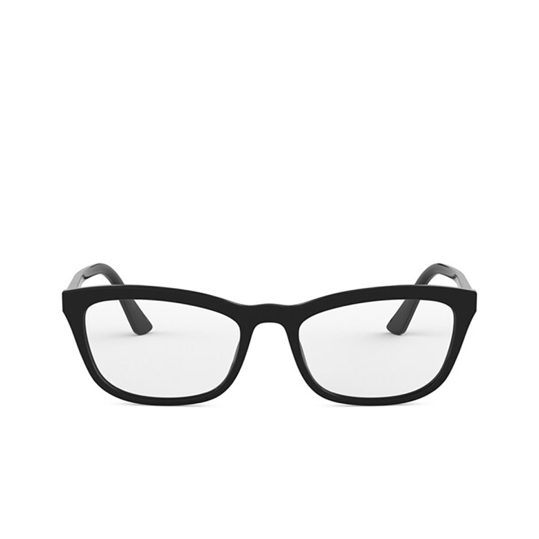 Prada® Rectangle Eyeglasses: PR 10VV color Black 1AB1O1.