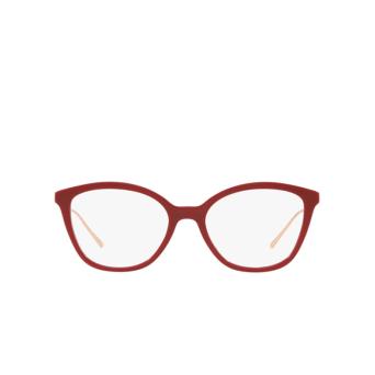 Prada® Square Eyeglasses: PR 11VV color Red 5391O1.