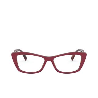 Prada® Cat-eye Eyeglasses: PR 15XV color Red / Havana 07C1O1.