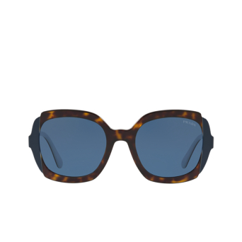 Prada® Square Sunglasses: PR 16US color Havana / Top Blue Grey W3C1V1.