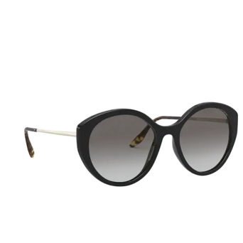 Prada® Round Sunglasses: PR 18XS color Black 1AB0A7.