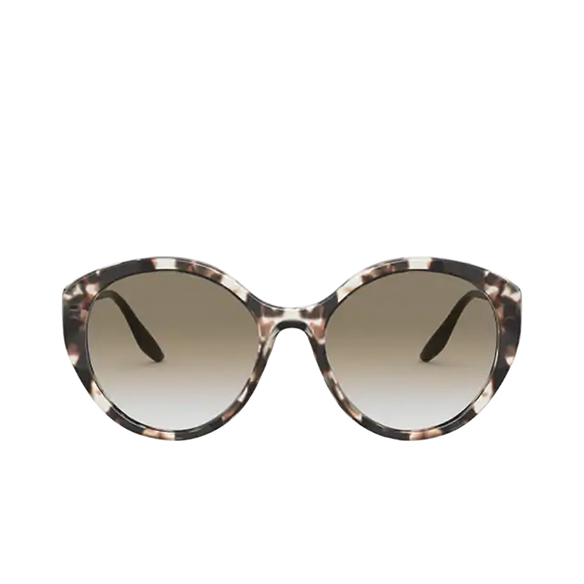 Prada® Round Sunglasses: PR 18XS color Ivory Havana UAO0A7.