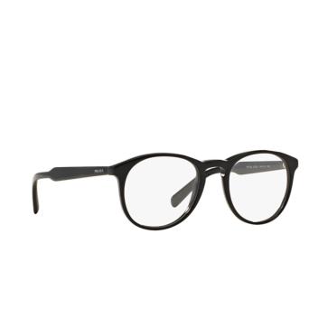 Prada® Round Eyeglasses: PR 19SV color Black 1AB1O1.