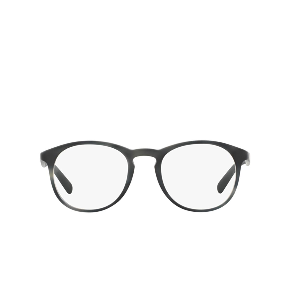 Prada® Round Eyeglasses: PR 19SV color Matte Striped Grey USD1O1.