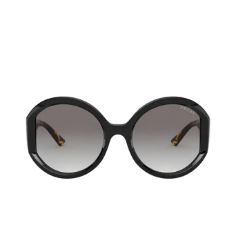 Prada® Round Sunglasses: PR 22XS color Black 1AB0A7.
