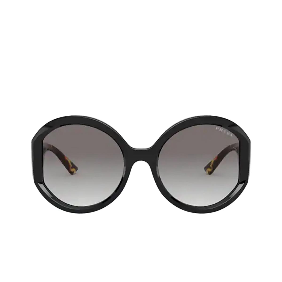 Prada® Round Sunglasses: PR 22XS color Black 1AB0A7.