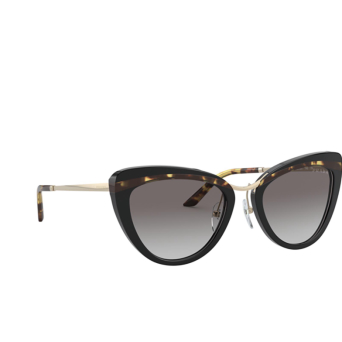 Prada® Round Sunglasses: PR 25XS color Black / Havana / Black 3890A7.