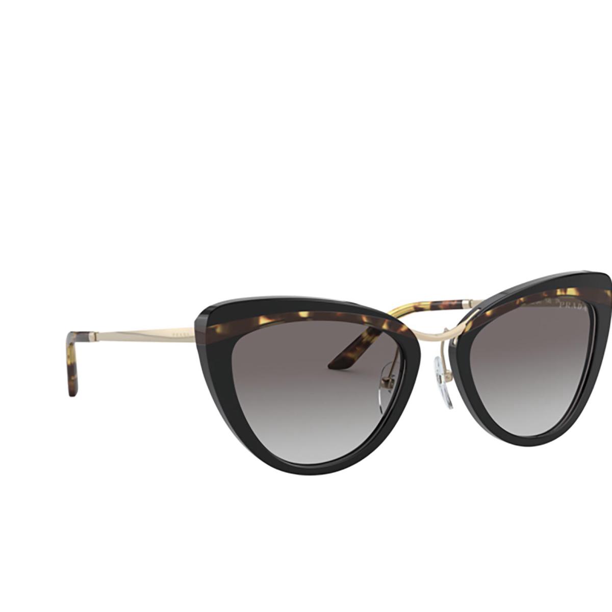Prada® Round Sunglasses: PR 25XS color Black / Havana / Black 3890A7.