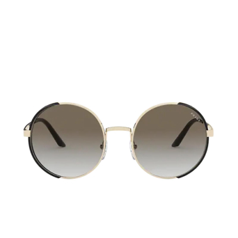 Prada® Round Sunglasses: PR 59XS color Pale Gold / Black AAV0A7.