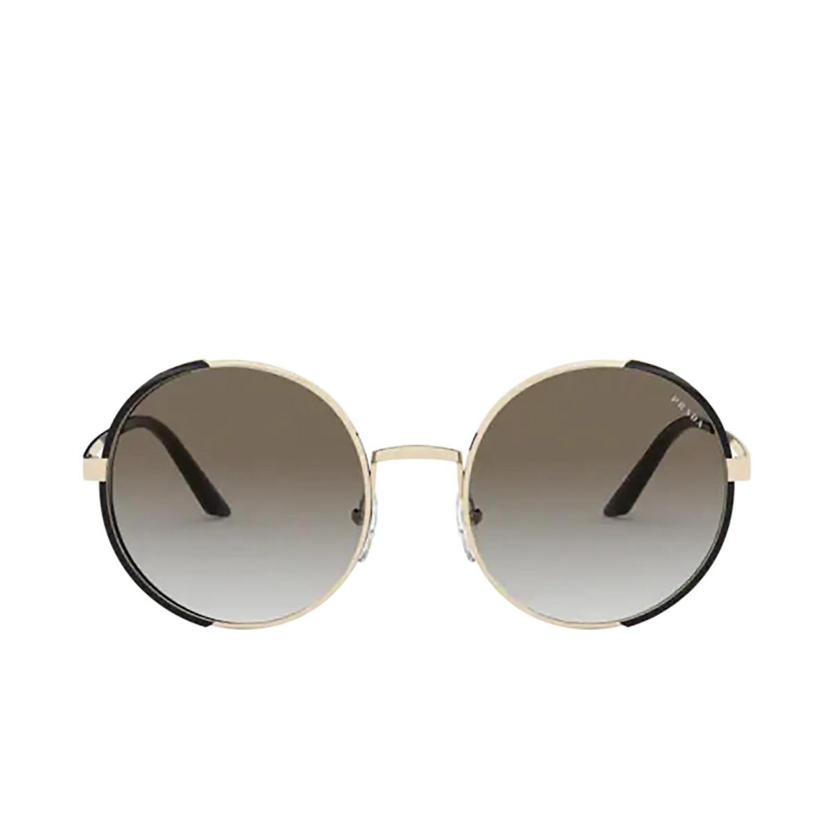 Prada® Round Sunglasses: PR 59XS color Pale Gold / Black AAV0A7.
