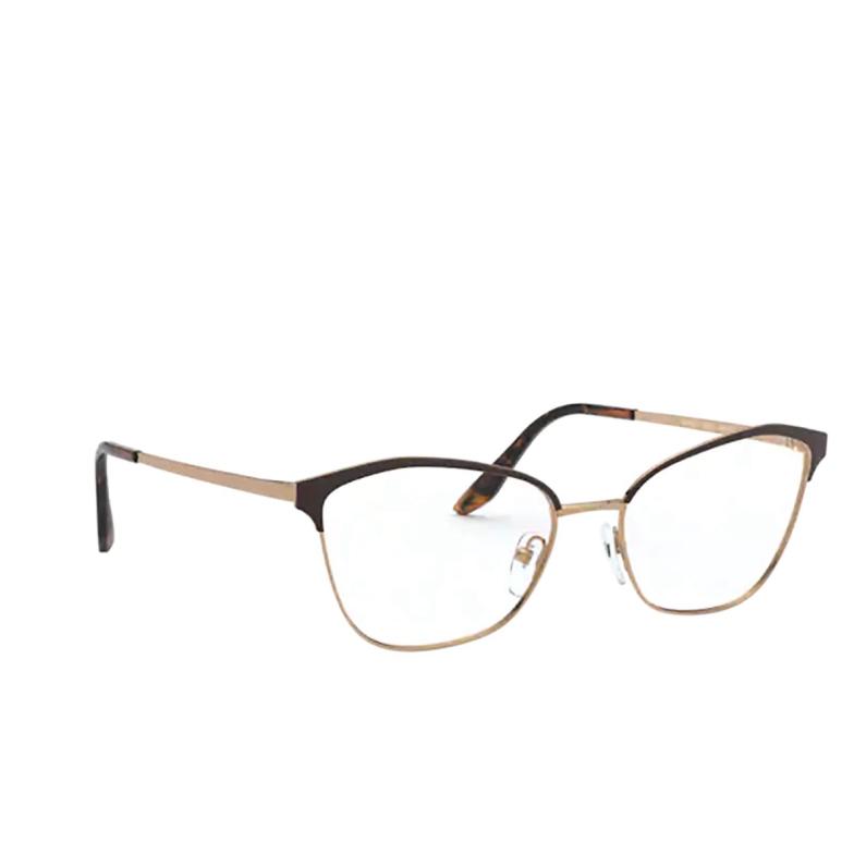 Prada® Cat-eye Eyeglasses: PR 62XV color Matte Red / Pink Gold 04E1O1.