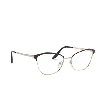 Prada® Cat-eye Eyeglasses: PR 62XV color Black / Light Gold AAV1O1.