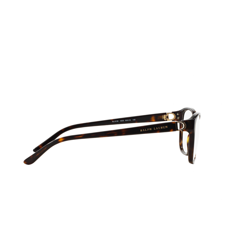 Ralph Lauren® Square Eyeglasses: RL6136 color Shiny Dark Havana 5003.