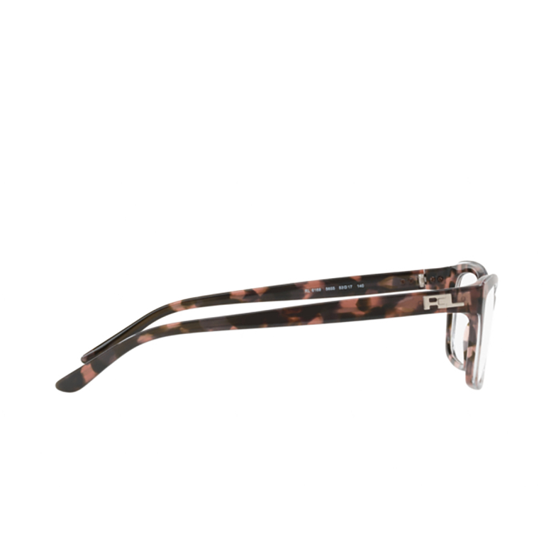 Ralph Lauren® Rectangle Eyeglasses: RL6169 color Shiny Crystal On Pink Havana 5655.