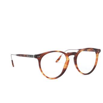 Ralph Lauren® Round Eyeglasses: RL6195P color Shiny Striped Havana 5007.