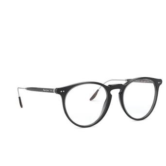 Ralph Lauren® Round Eyeglasses: RL6195P color Shiny Dark Transparent Grey 5536.