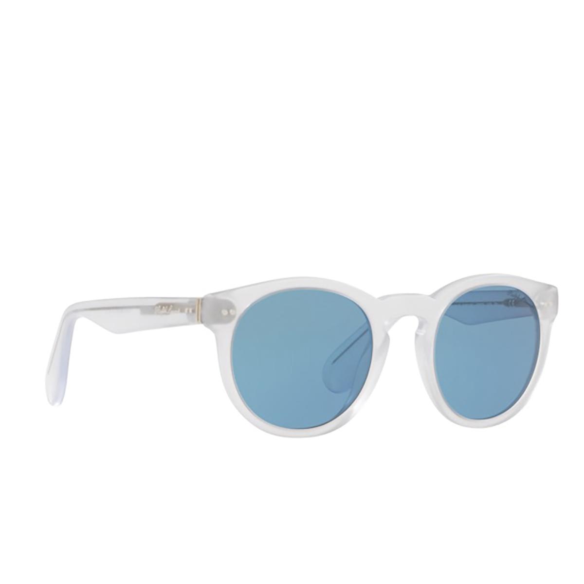 Ralph Lauren® Round Sunglasses: RL8146P color Sandbalst Crystal 500256 - three-quarters view.