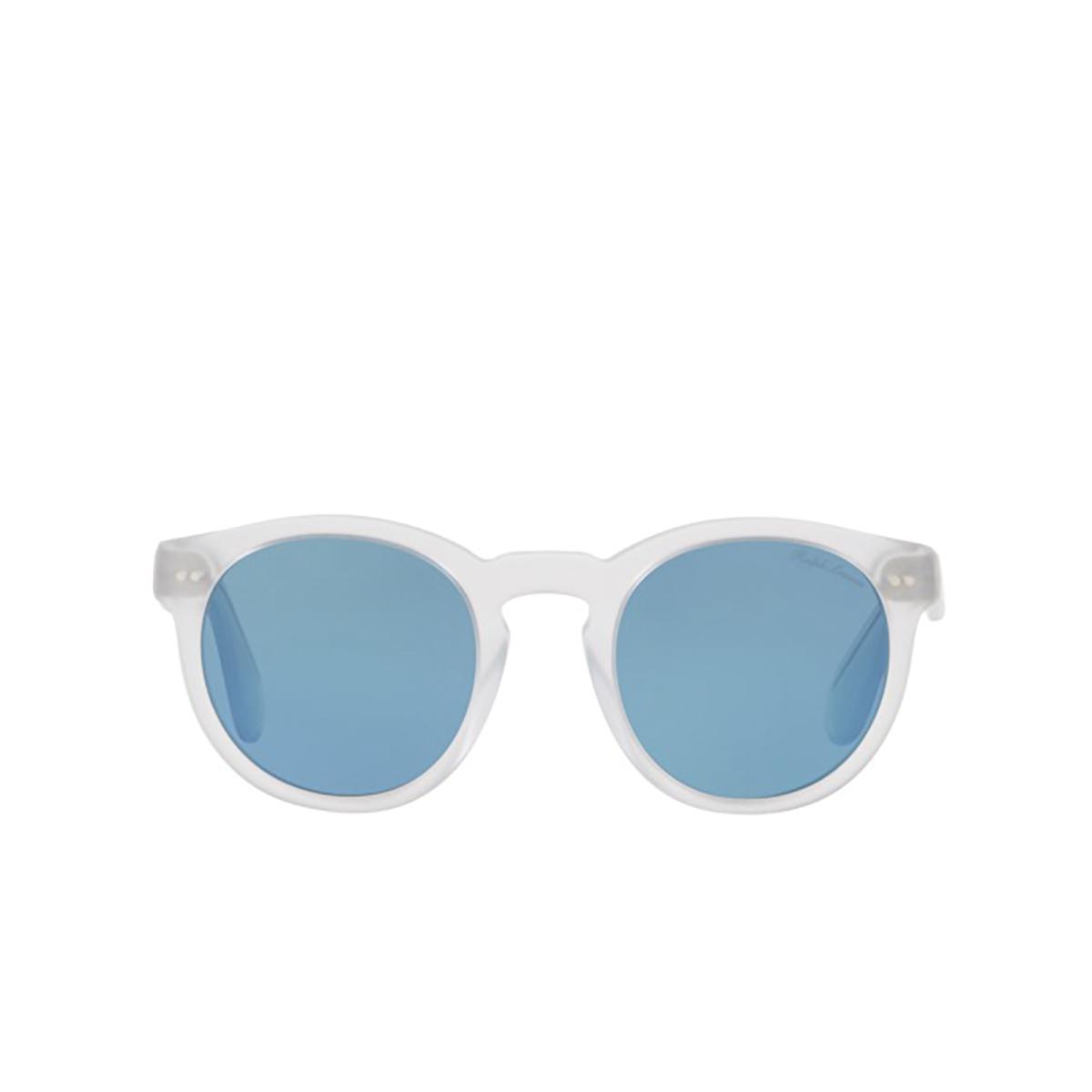 Ralph Lauren® Round Sunglasses: RL8146P color Sandbalst Crystal 500256 - front view.