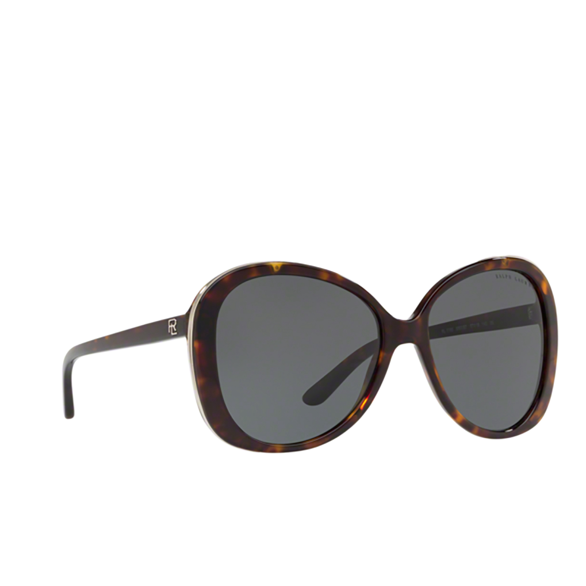 Ralph Lauren® Butterfly Sunglasses: RL8166 color Shiny Dark Havana 500387 - three-quarters view.