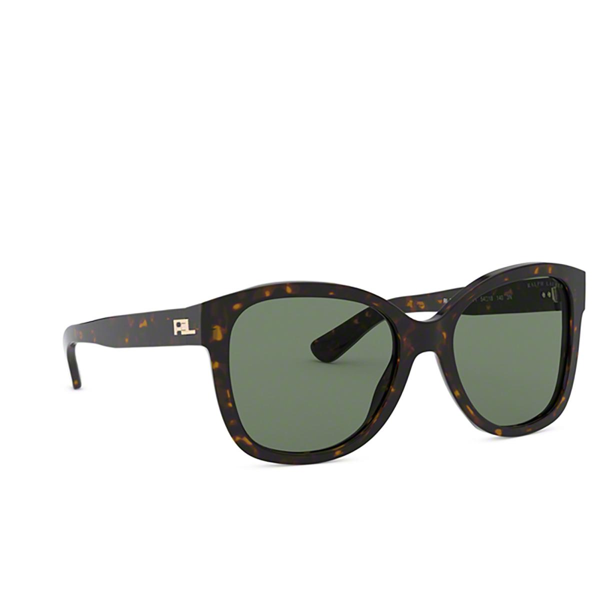 Ralph Lauren® Butterfly Sunglasses: RL8180 color Shiny Dark Havana 500371 - three-quarters view.