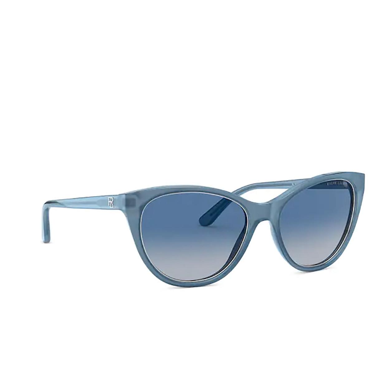 Ralph Lauren® Cat-eye Sunglasses: RL8186 color Pearl Light Blue 53774L - three-quarters view.