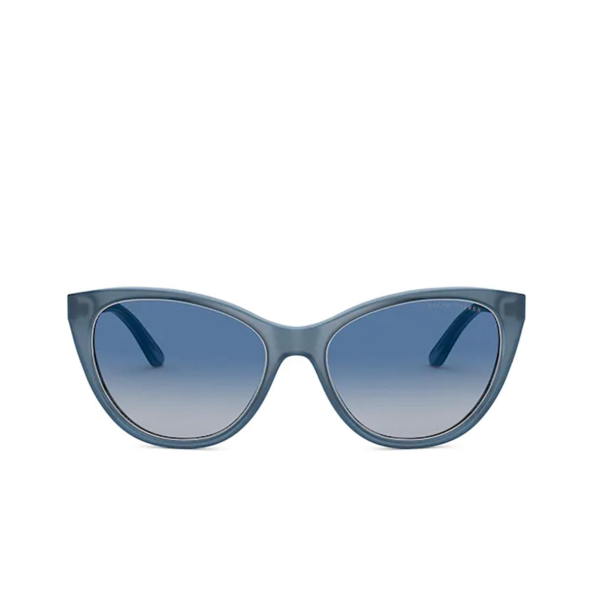 Ralph Lauren® Cat-eye Sunglasses: RL8186 color Pearl Light Blue 53774L - front view.