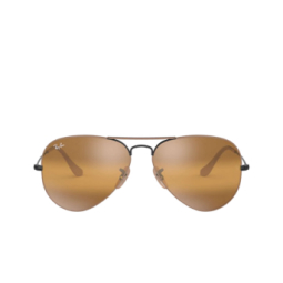 Ray-Ban® Sunglasses: Aviator Large Metal RB3025 color Matte Beige On Black 9153AG.