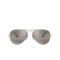Ray-Ban® Sunglasses: Aviator Large Metal RB3025 color Matte Grey On Arista 9154AH.