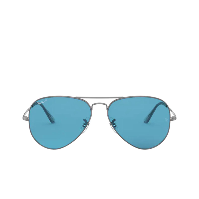 Ray-Ban® Aviator Sunglasses: Aviator Metal Ii RB3689 color Gunmetal 004/S2.