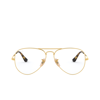 Ray-Ban® Aviator Eyeglasses: Aviator RX6489 color Arista 2500.