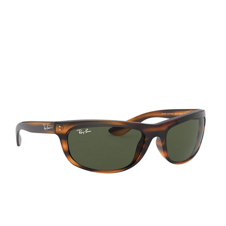 Ray-Ban® Rectangle Sunglasses: Balorama RB4089 color Striped Red Havana 820/31.