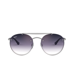 Ray-Ban® Sunglasses: Blaze Round Doublebridge RB3614N color Demi Gloss Silver 91420U.