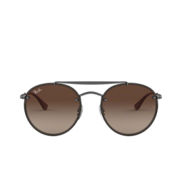 Ray-Ban® Sunglasses: Blaze Round Doublebridge RB3614N color Demi Gloss Gunmetal 914413.