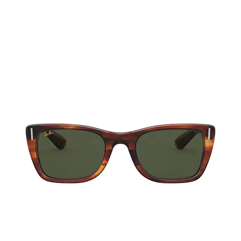 Ray-Ban® Square Sunglasses: Caribbean RB2248 color Striped Havana 954/31.
