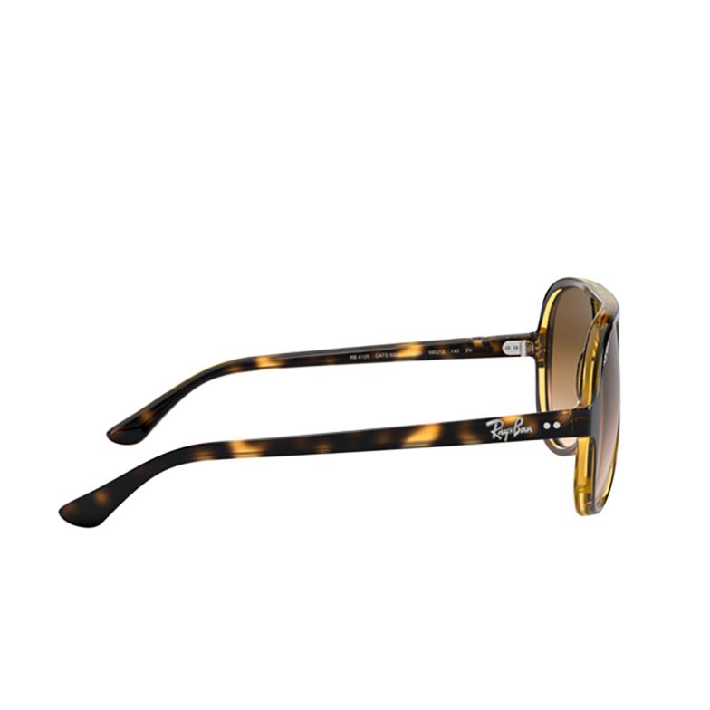 Ray-Ban® Aviator Sunglasses: Cats 5000 RB4125 color Light Havana 710/51.