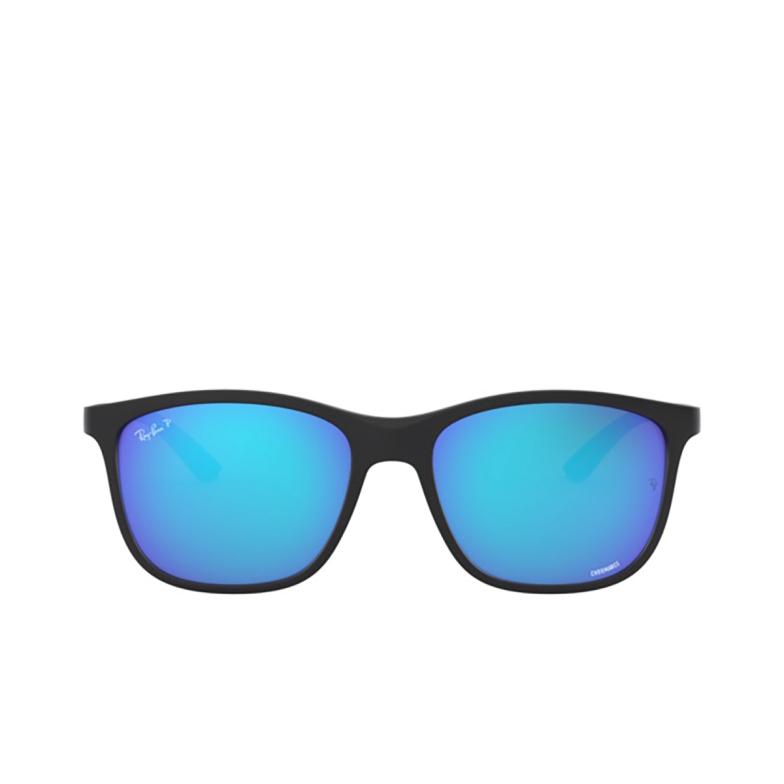 Ray-Ban® Square Sunglasses: Chromance RB4330CH color Matte Black 601SA1.
