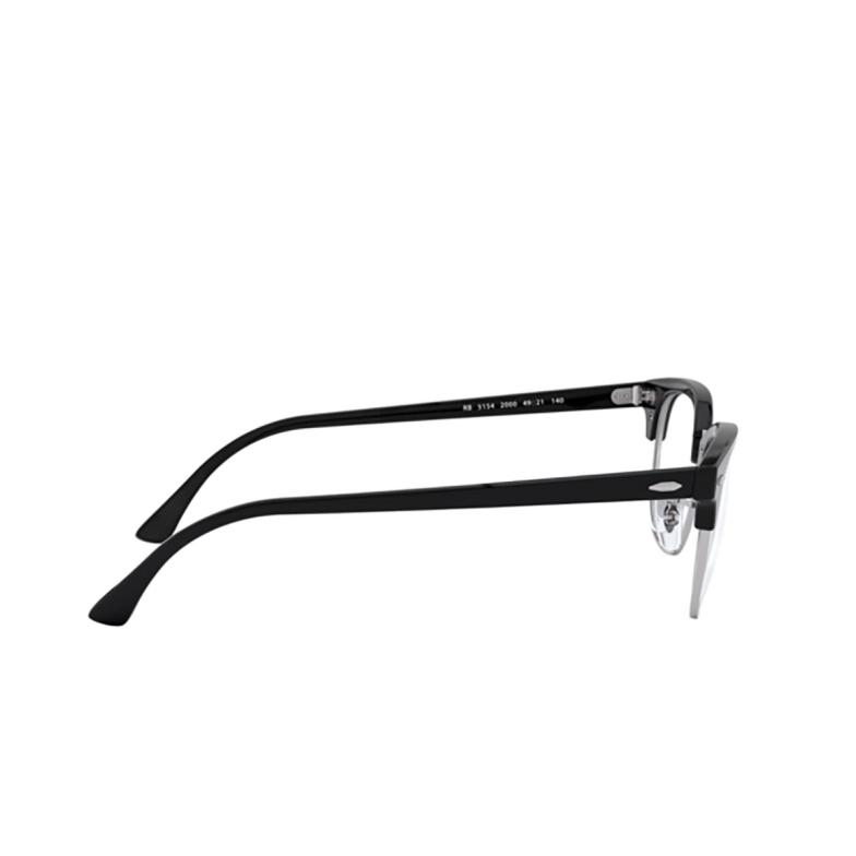 Ray-Ban® Square Eyeglasses: Clubmaster RX5154 color Shiny Black 2000.
