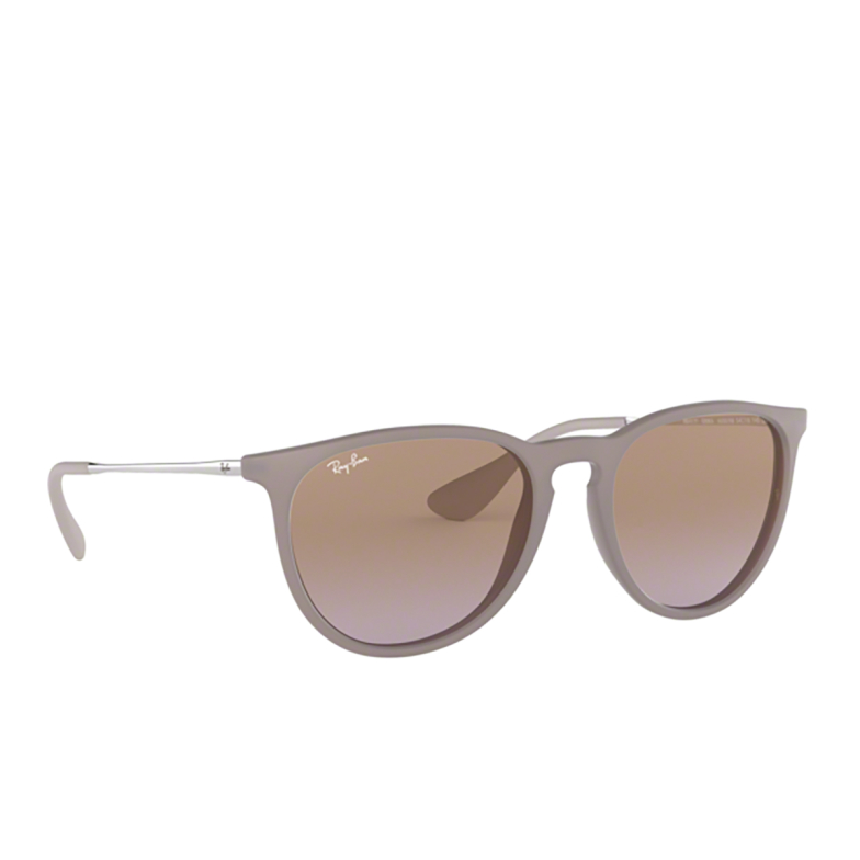 Ray-Ban® Round Sunglasses: Erika RB4171 color Dark Rubber Sand 600068.