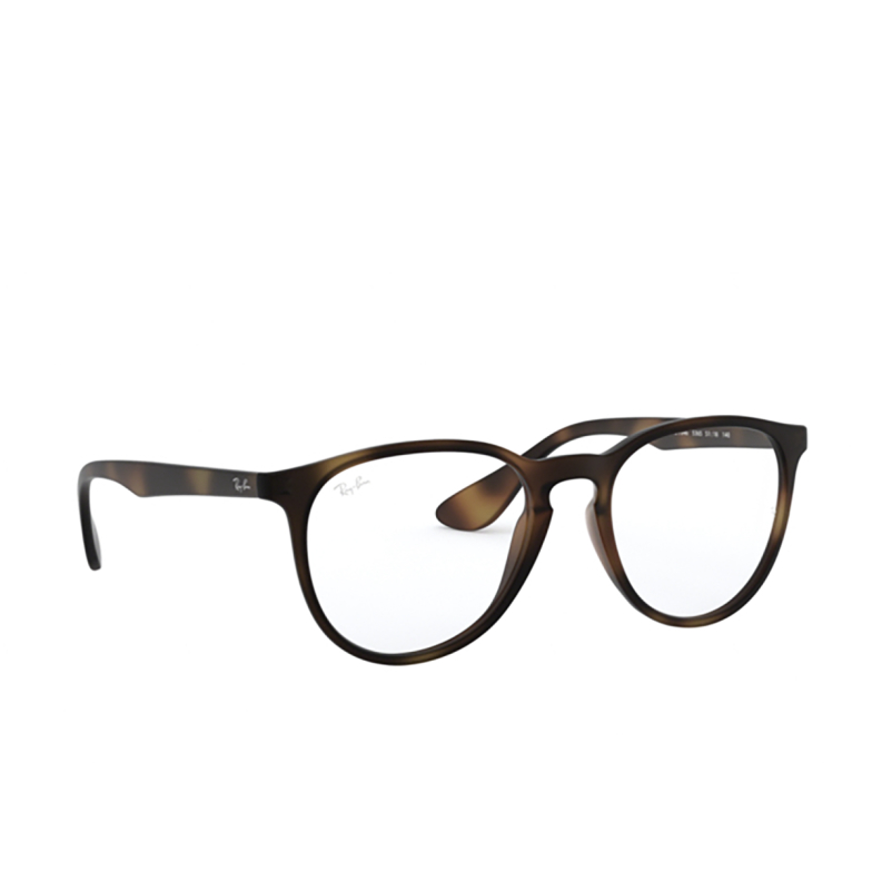 Ray-Ban® Round Eyeglasses: Erika RX7046 color Rubber Havana 5365.