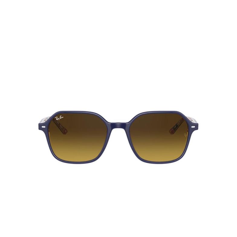 Ray-Ban® Square Sunglasses: John RB2194 color Blue On Stripes Orange / Blue 132085.
