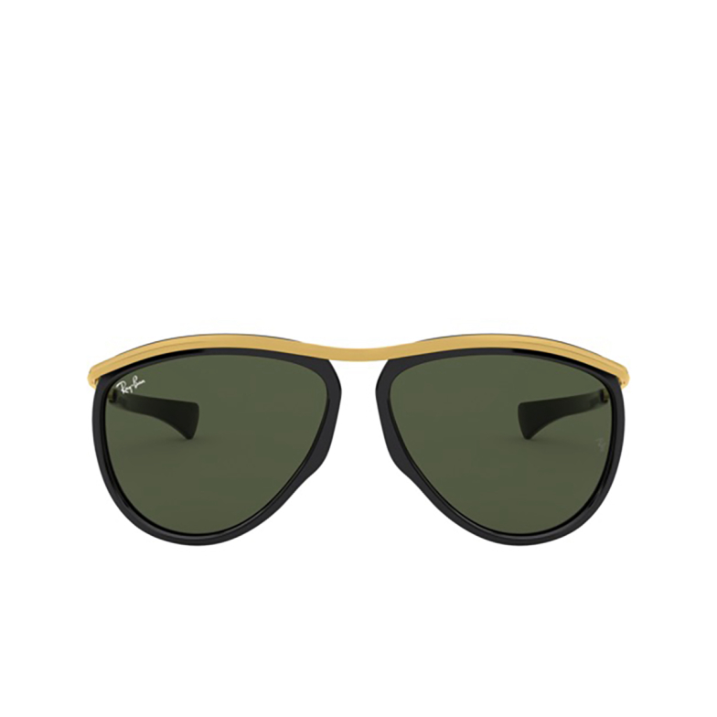 Ray-Ban® Aviator Sunglasses: Olympian Aviator RB2219 color Black 901/31.