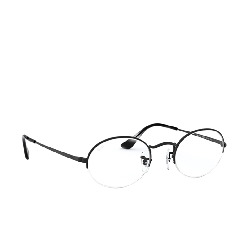 Ray-Ban® Oval Eyeglasses: Oval Gaze RX6547 color Matte Black 2503.
