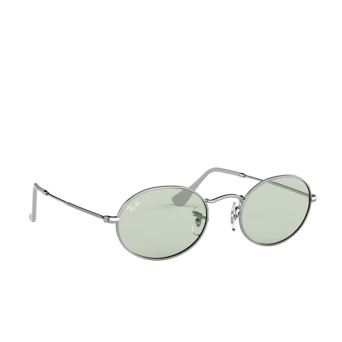 Ray-Ban® Oval Sunglasses: Oval RB3547 color Silver 003/T1.