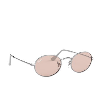 Ray-Ban® Oval Sunglasses: Oval RB3547 color Silver 003/T5.
