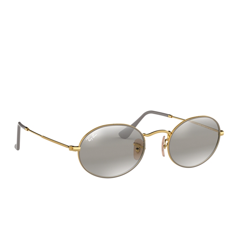Ray-Ban® Oval Sunglasses: Oval RB3547 color Matte Grey On Arista 9154AH.