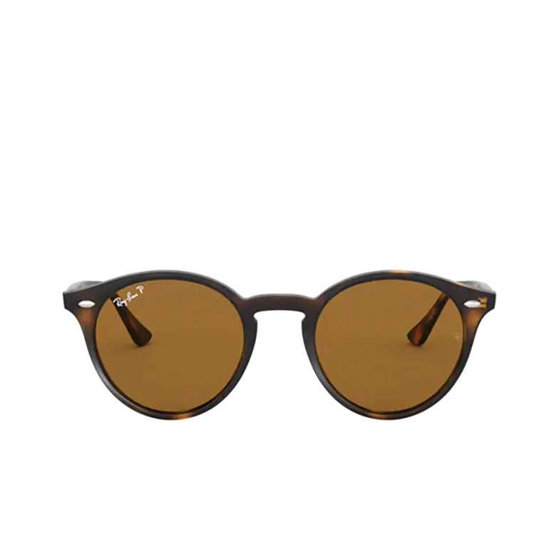 Ray-Ban® Round Sunglasses: RB2180 color Light Havana 710/83.