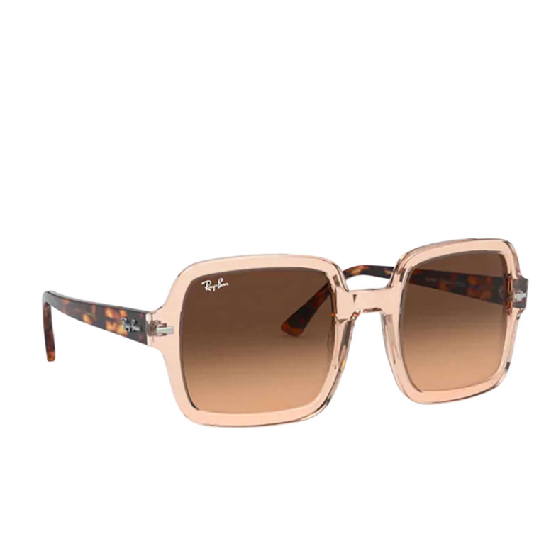 Ray-Ban® Square Sunglasses: RB2188 color Transparent Light Brown 130143.