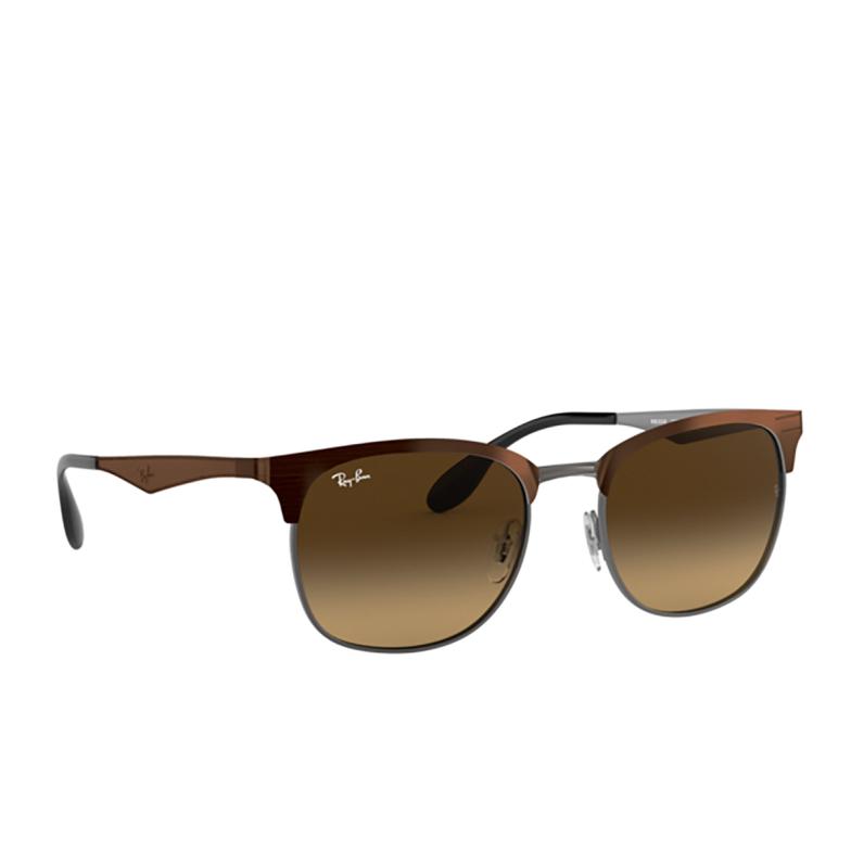 Ray-Ban® Square Sunglasses: RB3538 color Top Brown On Gunmetal 188/13.
